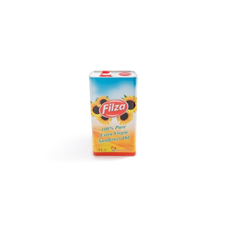 Winterized unrefined sunflower oil 5L metal can